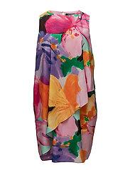 FLORAL-PRINT CREPE DRESS - MULTI