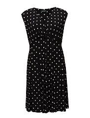 Polka-Dot-Print Jersey Dress - BLACK/COLONIAL