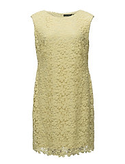 Floral Lace Dress - DAFFODIL