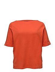 COTTON BOATNECK TOP - SUNSET ORANGE