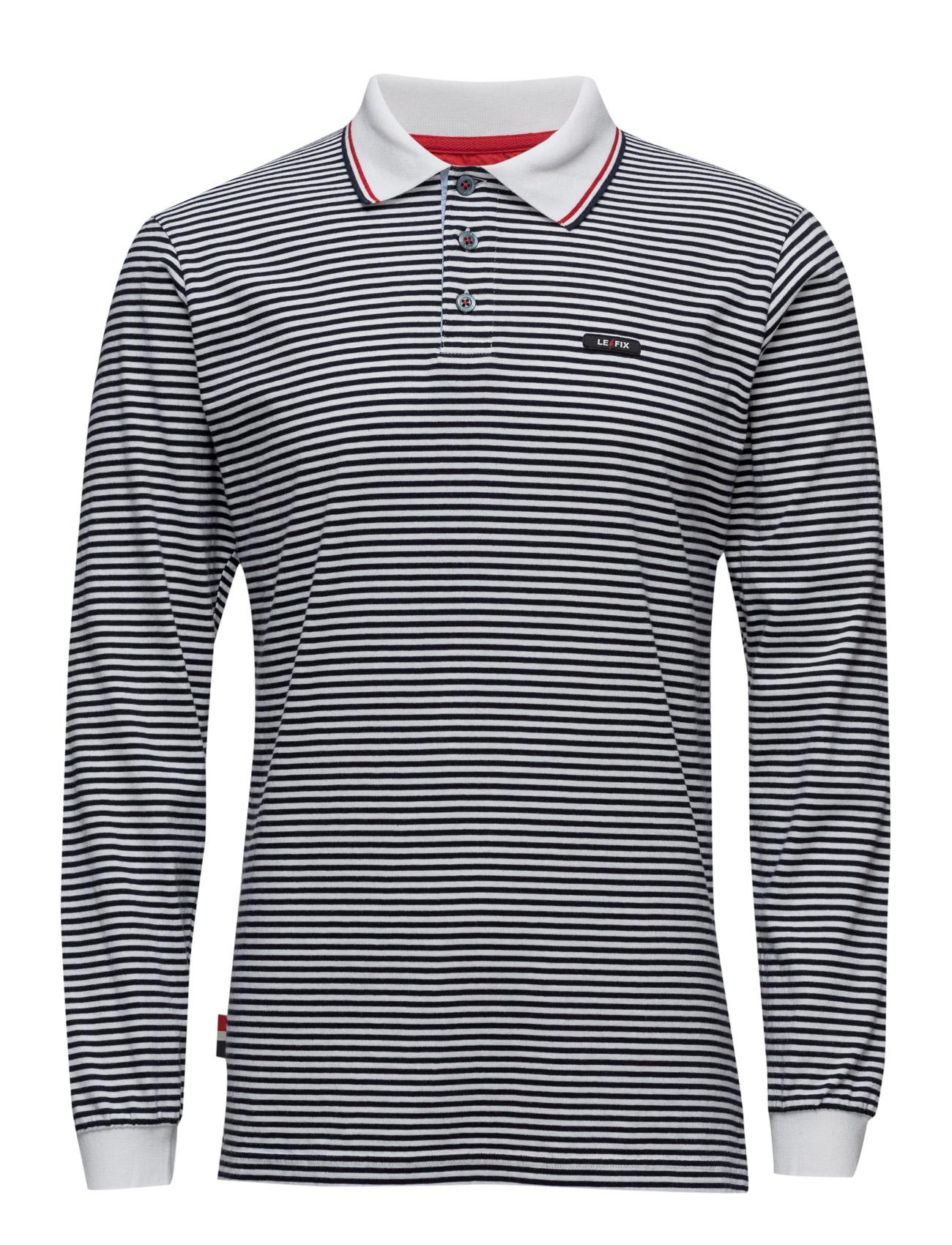 Stripe Sports Polo Ls Le-Fix Længærmede polo t-shirts til Herrer i