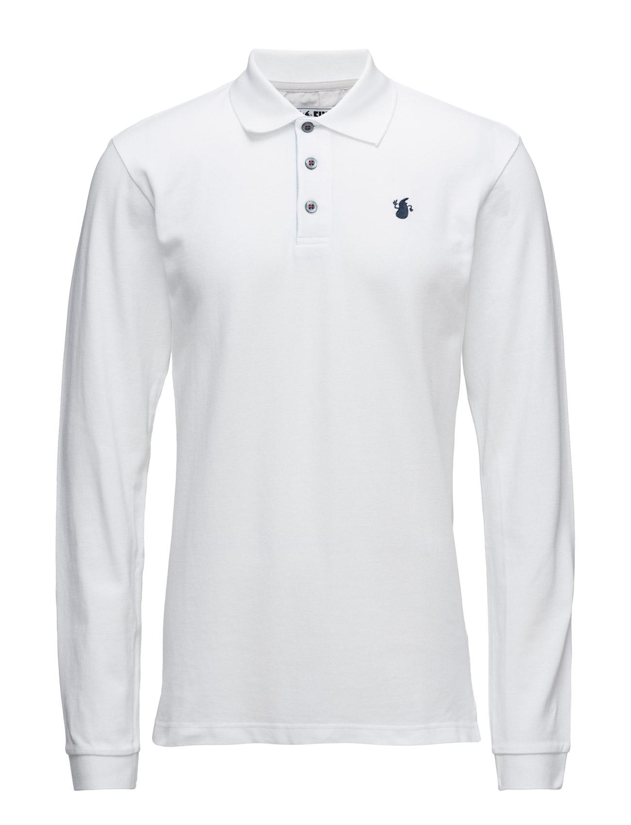 Polo Ls Le-Fix Længærmede polo t-shirts til Herrer i hvid