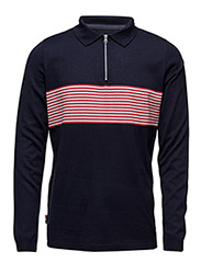 Disorder Polo Knit LS - NAVY