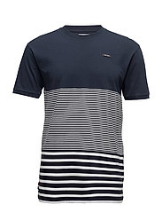 Stripe Block Tee - NAVY