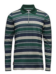 Pattern Polo Knit LS - STRIPED PATTERN