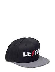 Snap Back Flash Logo Cap - BLACK