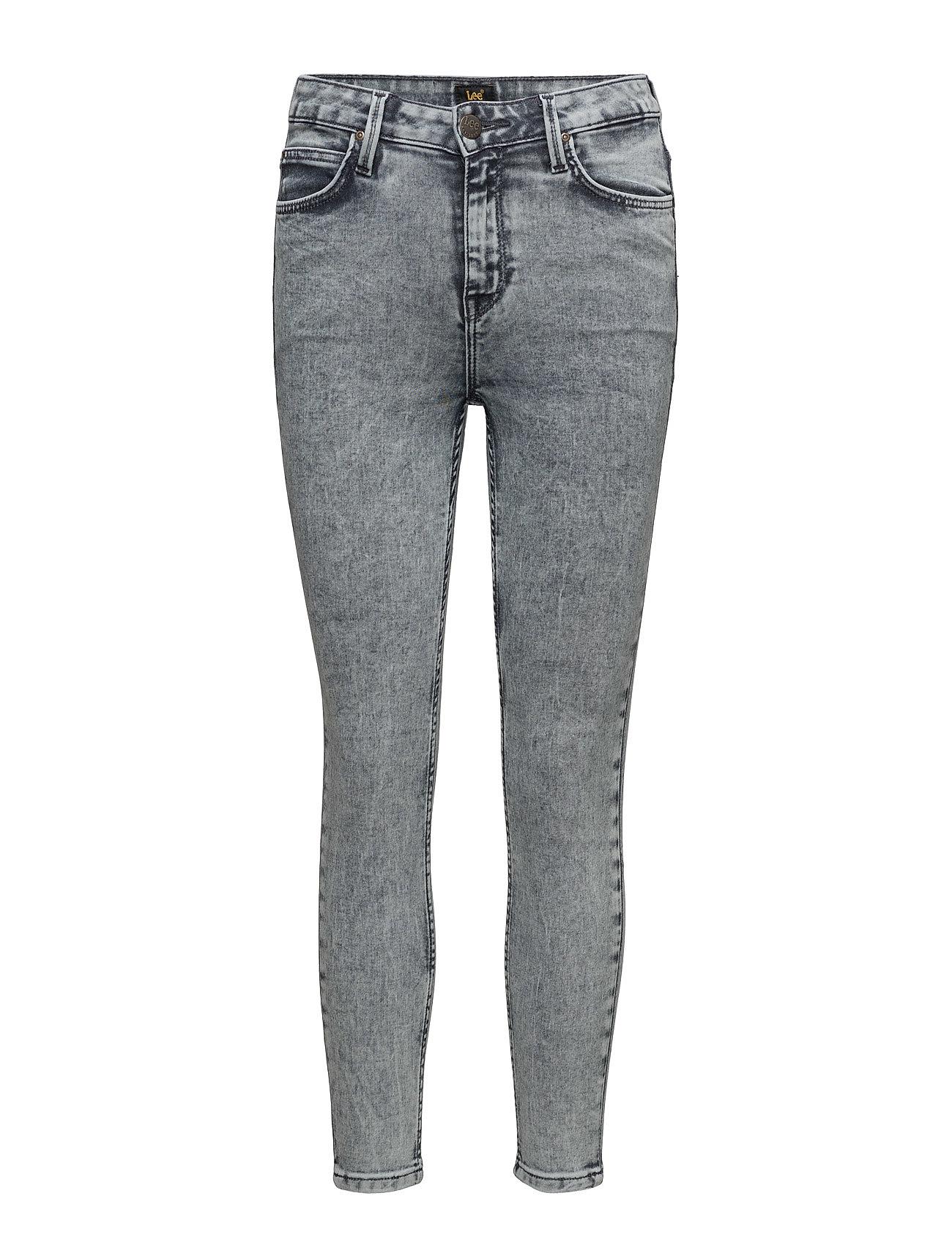 Scarlett High Croppe Snow Bleach Lee Jeans Skinny til Damer i