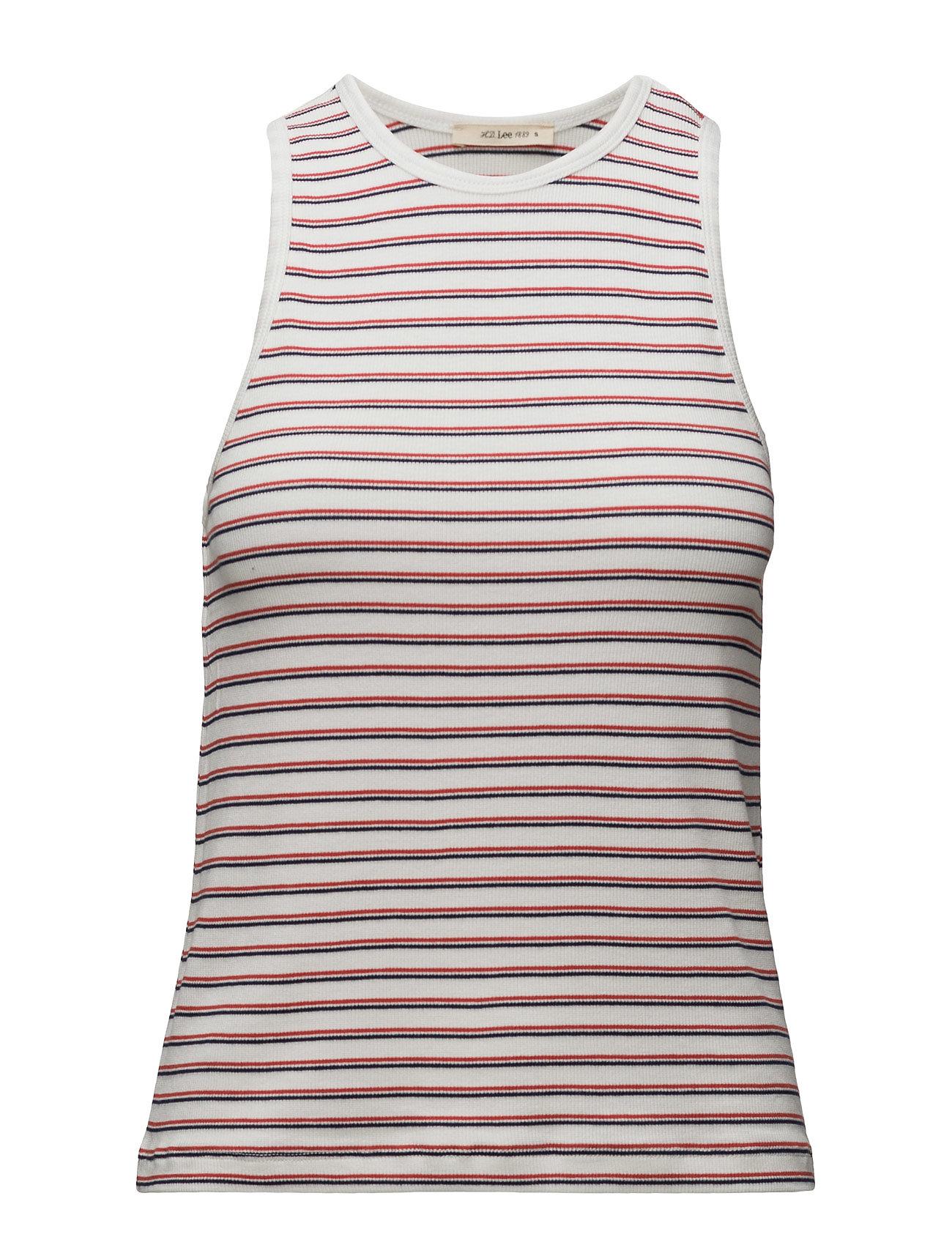 Striped Tank White Lee Jeans T-shirts & toppe til Kvinder i hvid