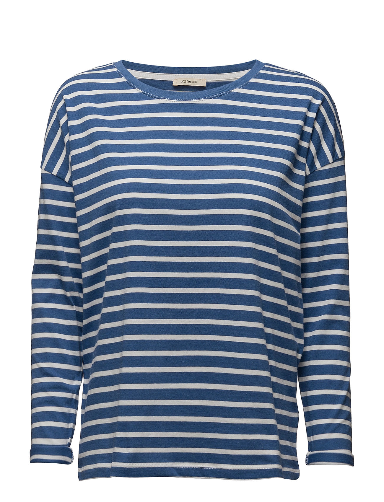 Ls Stripe Tee Workwear Blue Lee Jeans Langærmede til Damer i