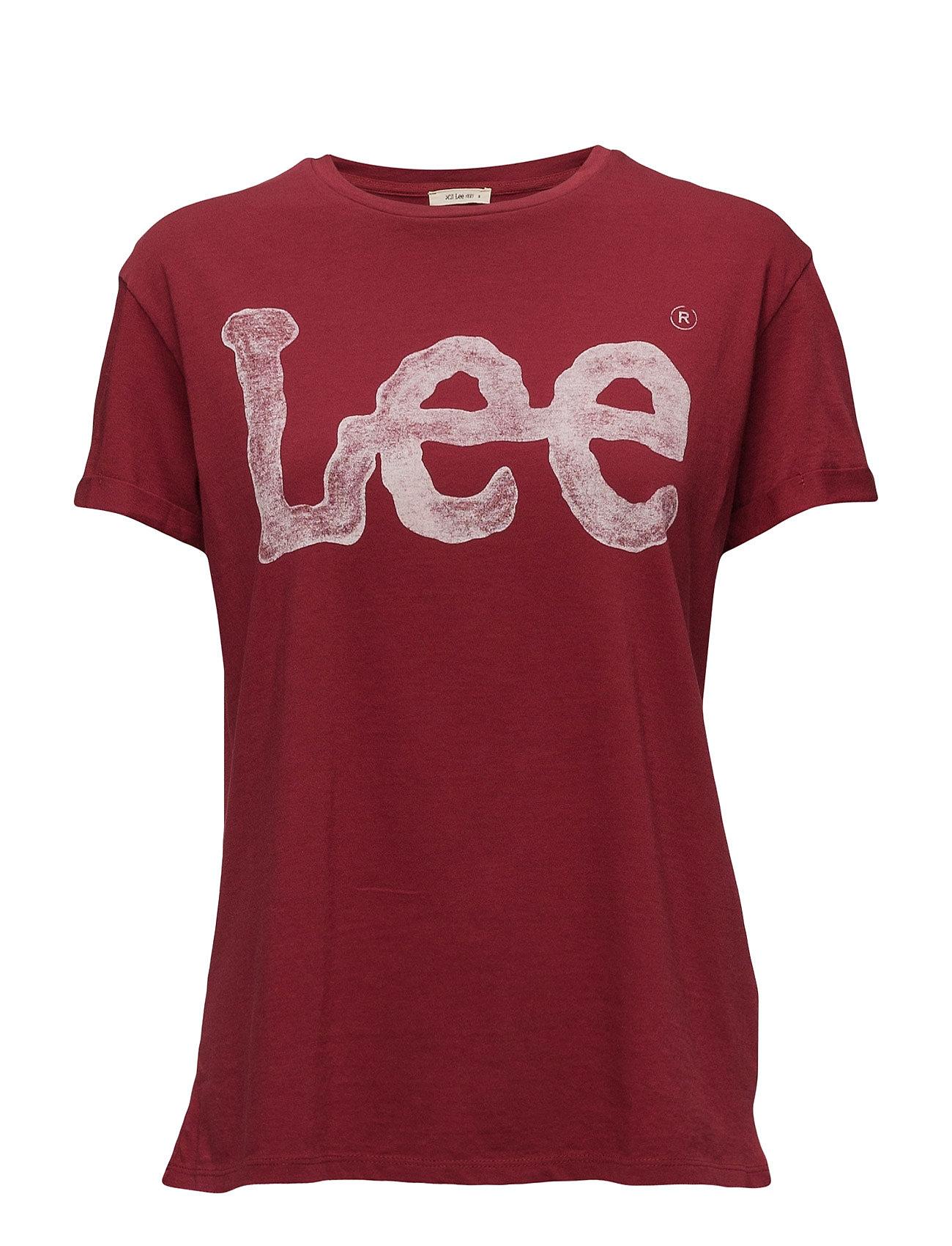 Logo Tee Biking Red Lee Jeans Kortærmede til Damer i