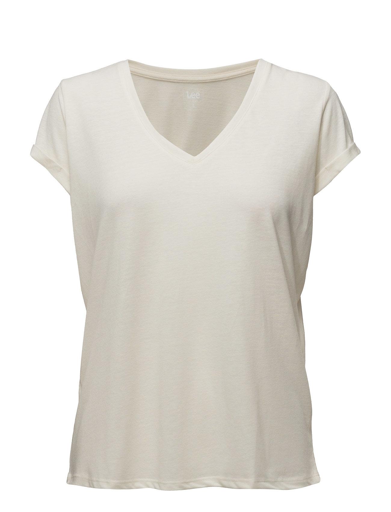 V Neck Tee Vintage White Lee Jeans T-shirts & toppe til Kvinder i Vintage White