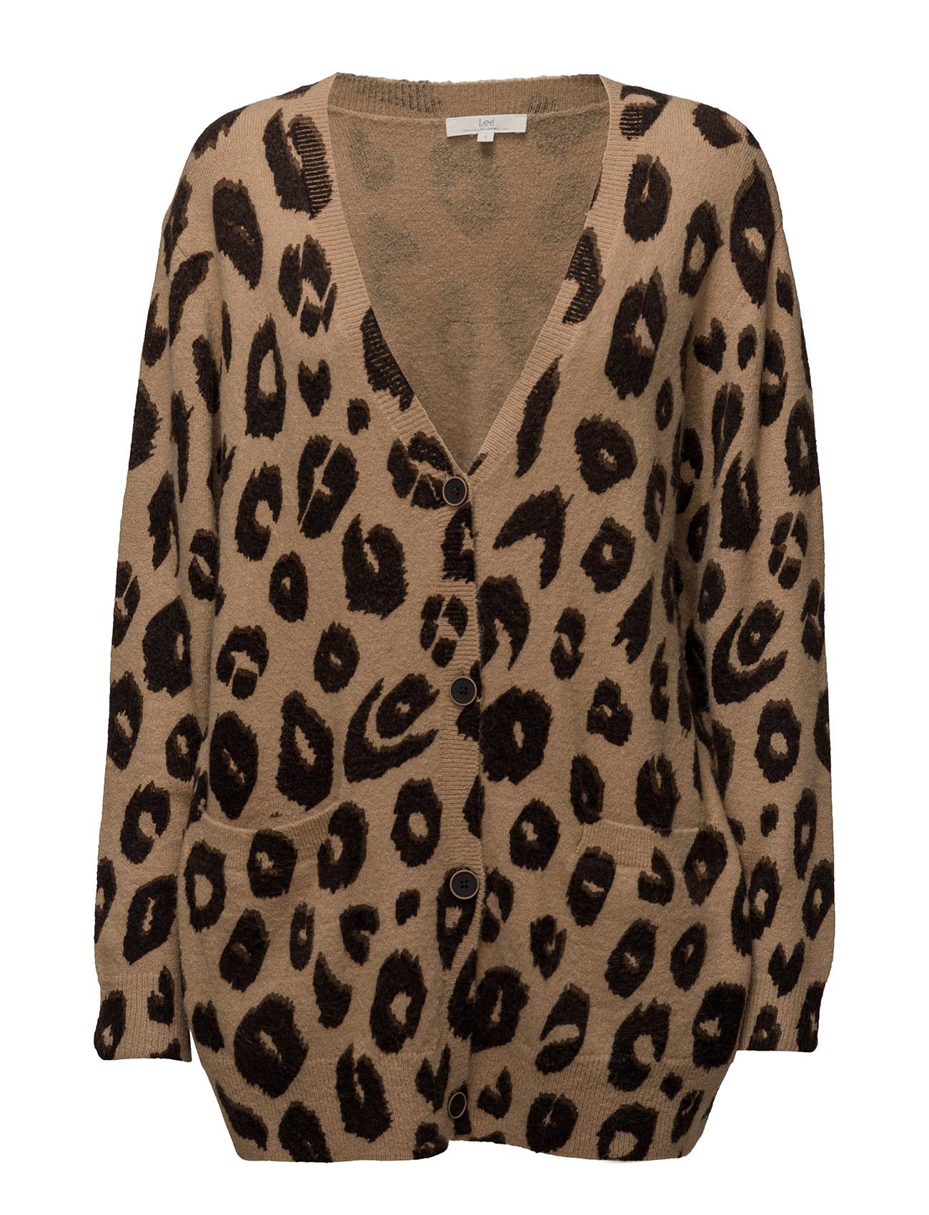 Leopard Print Cardigan (Beige) (£95) - Lee Jeans | Boozt.com