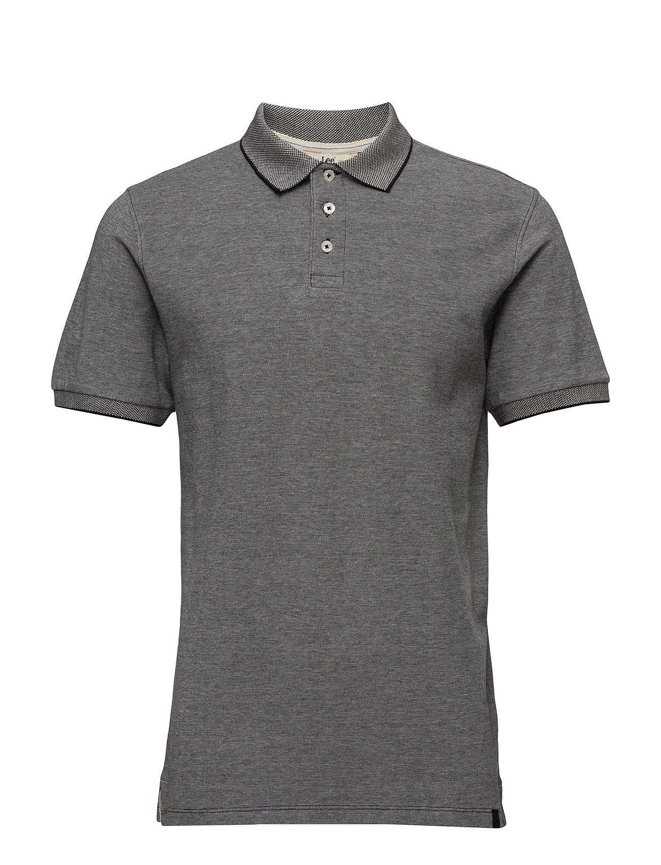 Pique Polo Black Lee Jeans Kortærmede polo t-shirts til Herrer i Sort