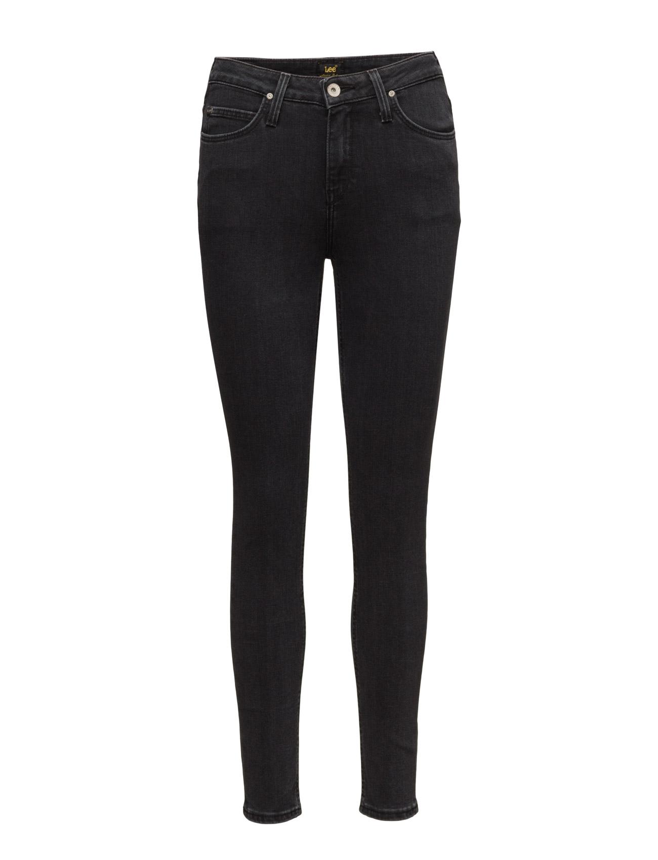 Scarlett High Charcoal Powder Lee Jeans Skinny til Damer i