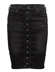 PENCIL SKIRT CHARCOAL BLACK - CHARCOAL BLACK