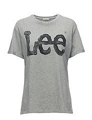 LOGO TEE GREY MELE - GREY MELE