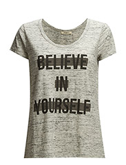 SCOOP NECK T GREY MELE - GREY MELE