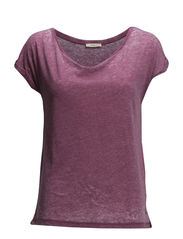 ROLL SLEEVE TEE WASHED VIOLET - WASHED VIOLET