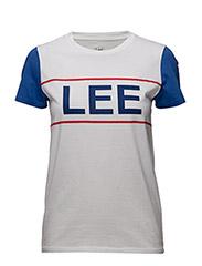 LEE COLORBLOCK TEE - WHITE
