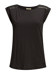 SLEEVELESS T BLACK - BLACK