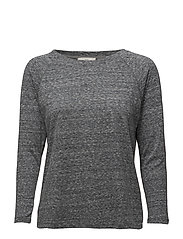 3/4 SLEEVE PLAIN TEE DARK GREY MELE - DARK GREY MELE