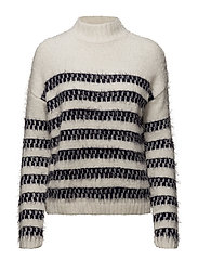 RELAXED STRIPED KNIT JET STREAM - JET STREAM