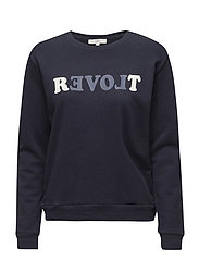 REVOLT SWEATSHIRT MIDNIGHT BLUE - MIDNIGHT BLUE