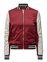 SATEEN BOMBER BIKING RED - BIKING RED