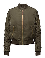 BOMBER JACKET ARMY GREEN - ARMY GREEN