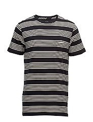 STRIPE TEE BLACK - BLACK