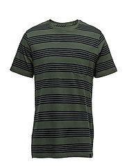 STRIPE TEE FOREST GREEN - FOREST GREEN