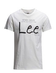 LEE LOGO TEE CLOUD DANCER - CLOUD DANCER