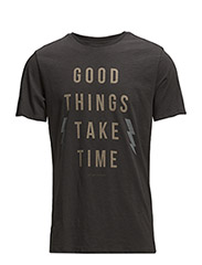 GOOD THINGS TEE WASHED BLACK - WASHED BLACK