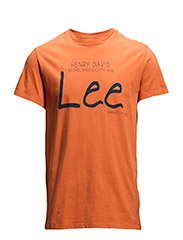 LEE LOGO TEE BURNT OCHRE - BURNT OCHRE