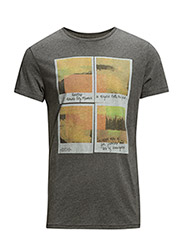 PHOTO TEE DARK GREY MELE - DARK GREY MELE