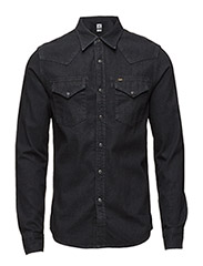 LEE WESTERN SHIRT - PITCH BLACK