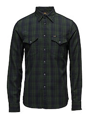 LEE WESTERN SHIRT FOREST GREEN - FOREST GREEN