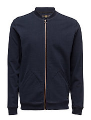 BOMBER SWEATSHIRT MIDNIGHT BLUE - MIDNIGHT BLUE