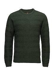 WOOL STRUCTURE CREW FOREST GREEN - FOREST GREEN