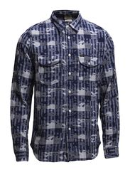 LEE WORKER SHIRT WASHED BLUE - WASHED BLUE