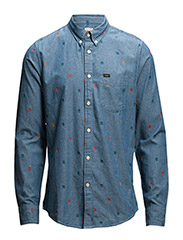 LEE BUTTON DOWN SAFRON - SAFRON