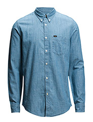 LEE BUTTON DOWN BLUE ICE - BLUE ICE