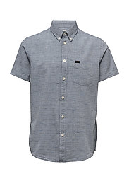 LEE BUTTON DOWN SS FADED BLUE - FADED BLUE
