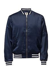 SATEEN BOMBER STATE BLUE - STATE BLUE