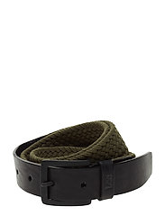 BRAIDED WEBBING BELT MILITARY GREEN - MILITARY GREEN