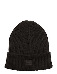 FISHERMAN BEANIE BLACK - BLACK