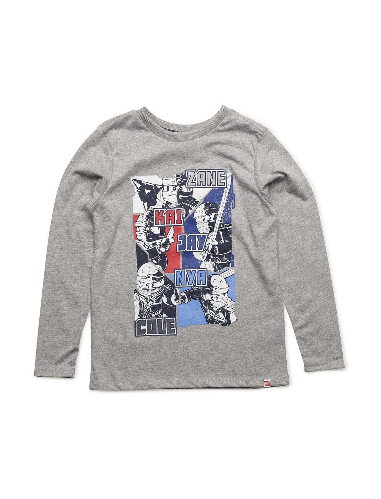 Teo 731 - T-Shirt L/S Lego wear Langærmede t-shirts til Børn i Grey Melange