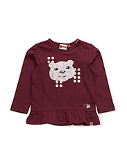 TIFF 705 - T-SHIRT L/S - BORDEAUX
