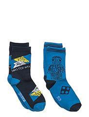 AYAN 101 - 2-PACK SOCKS - BLUE