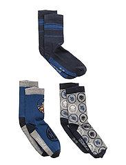 AYAN 601 - 3-PACK SOCKS - BLUE